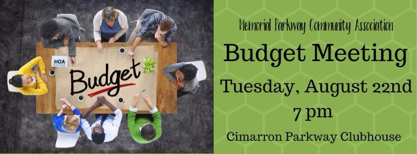 Annual HOA Budget Meeting