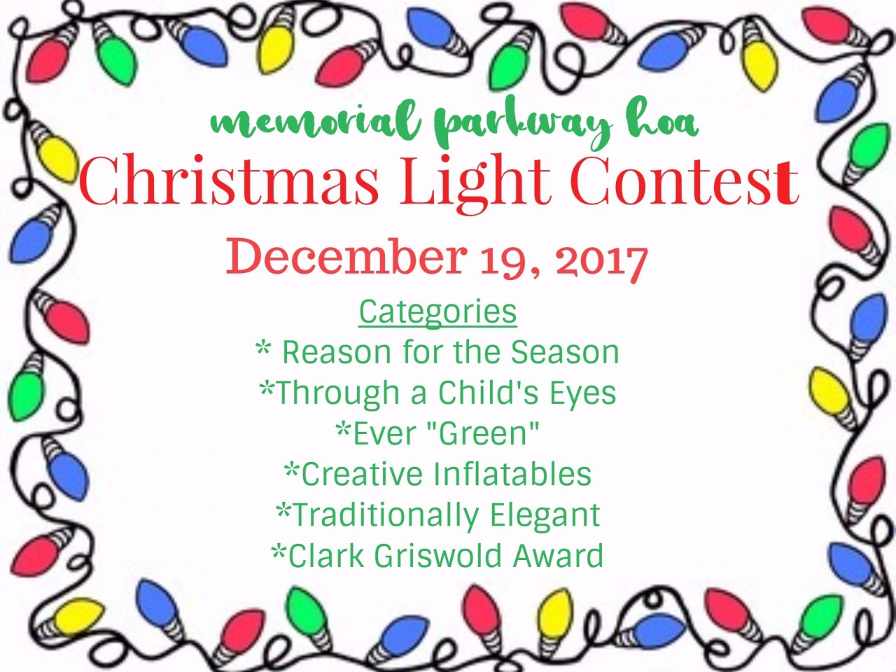 Christmas Light Display Contest