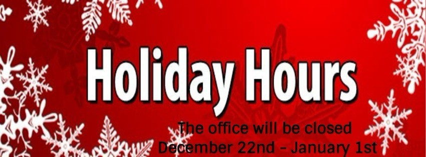 Memorial Parkway Holiday Office Hours