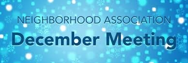 December HOA Meeting