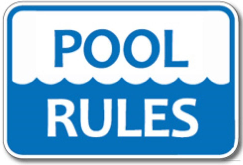 Pool Rules for Memorial Parkway Teens