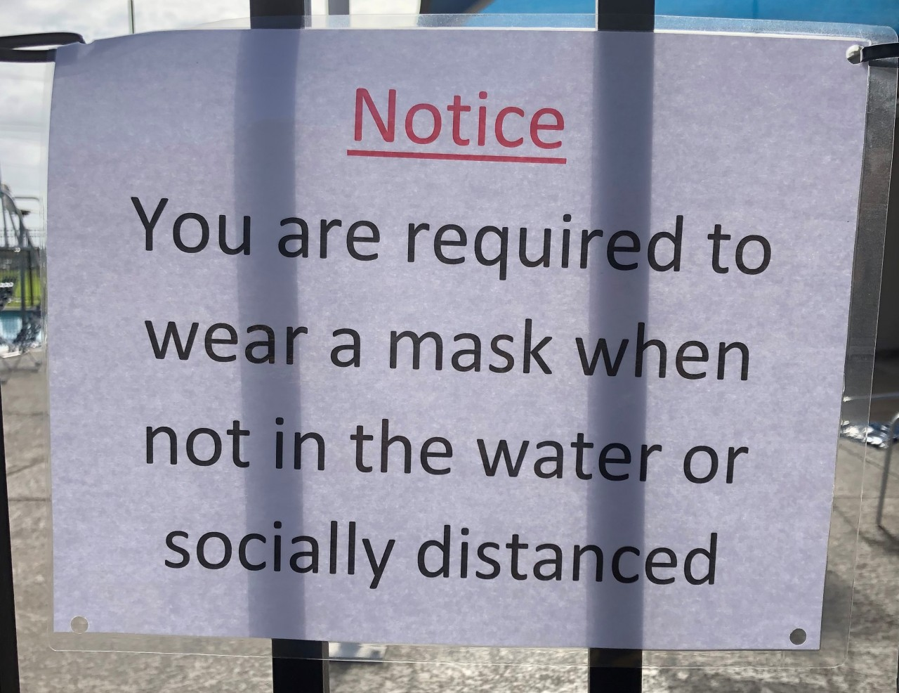 Face Mask Requirements For Pool Attendance