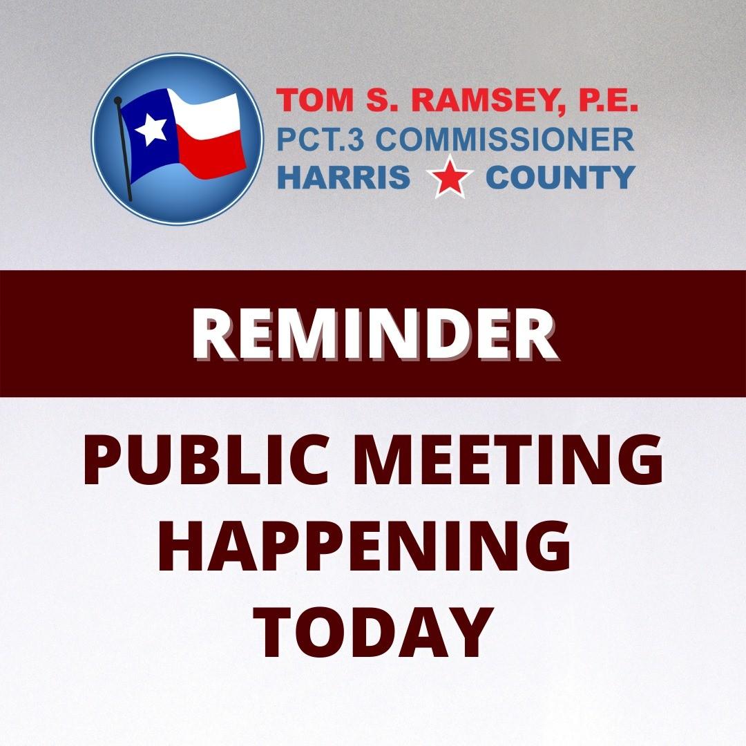 HC Public Meeting TODAY